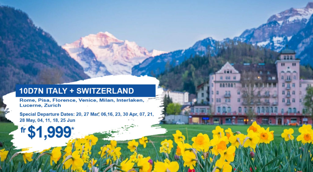 HIS Travel Italy Switzerland Europe