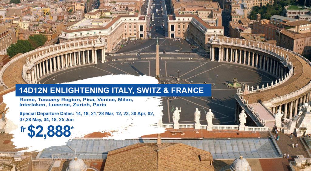 Enlightening Italy Switzerland France HIS Travel Europe