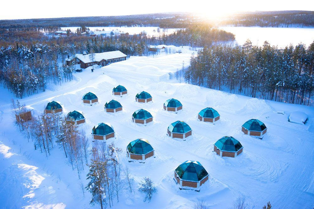 Finland Saariselkä Arctic Glass Igloo Europe