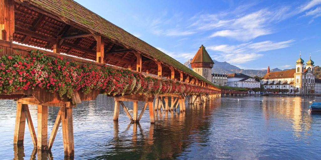 Europe HIS Travel Switzerland Lucerne Chapel Bridge