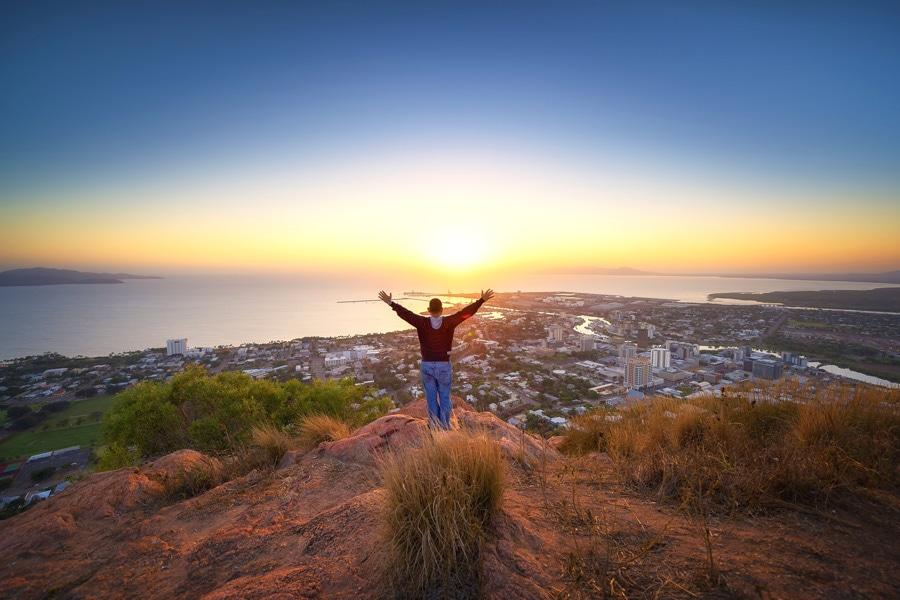 HIS Travel Queensland Australia Castle Hill Sunset