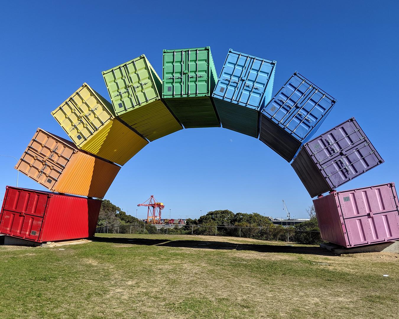 HIS Travel Fremantle Rainbow Sea Container Australia