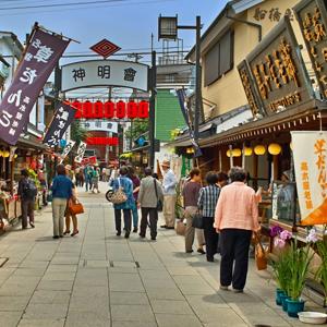 HIS Travel Singapore Tokyo Japan Temple Street in Shibamata